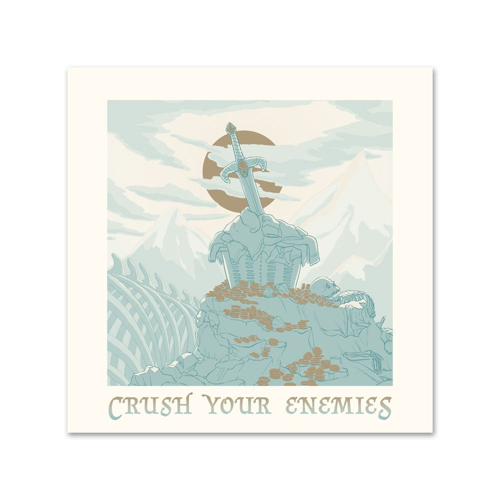 Image of <em>CRUSH YOUR ENEMIES</em> - Risograph Illustration