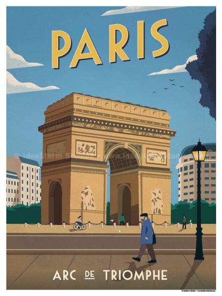 Image of Vintage Arc De Triomphe
