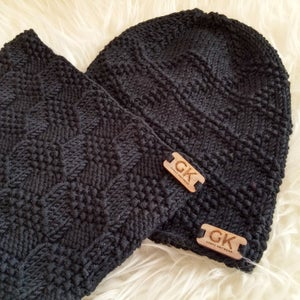 Image of GK Beanie and Cowl Set - Black 3-6 years