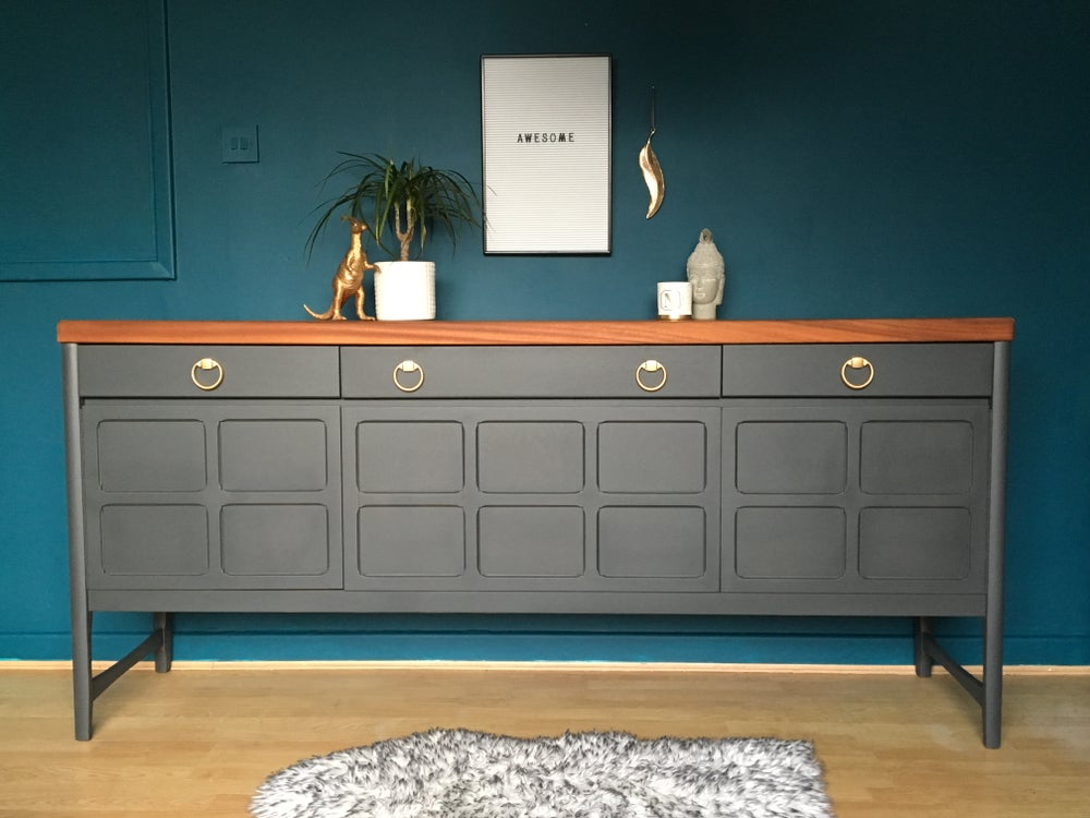 Image of Dark grey Nathan Teak sideboard