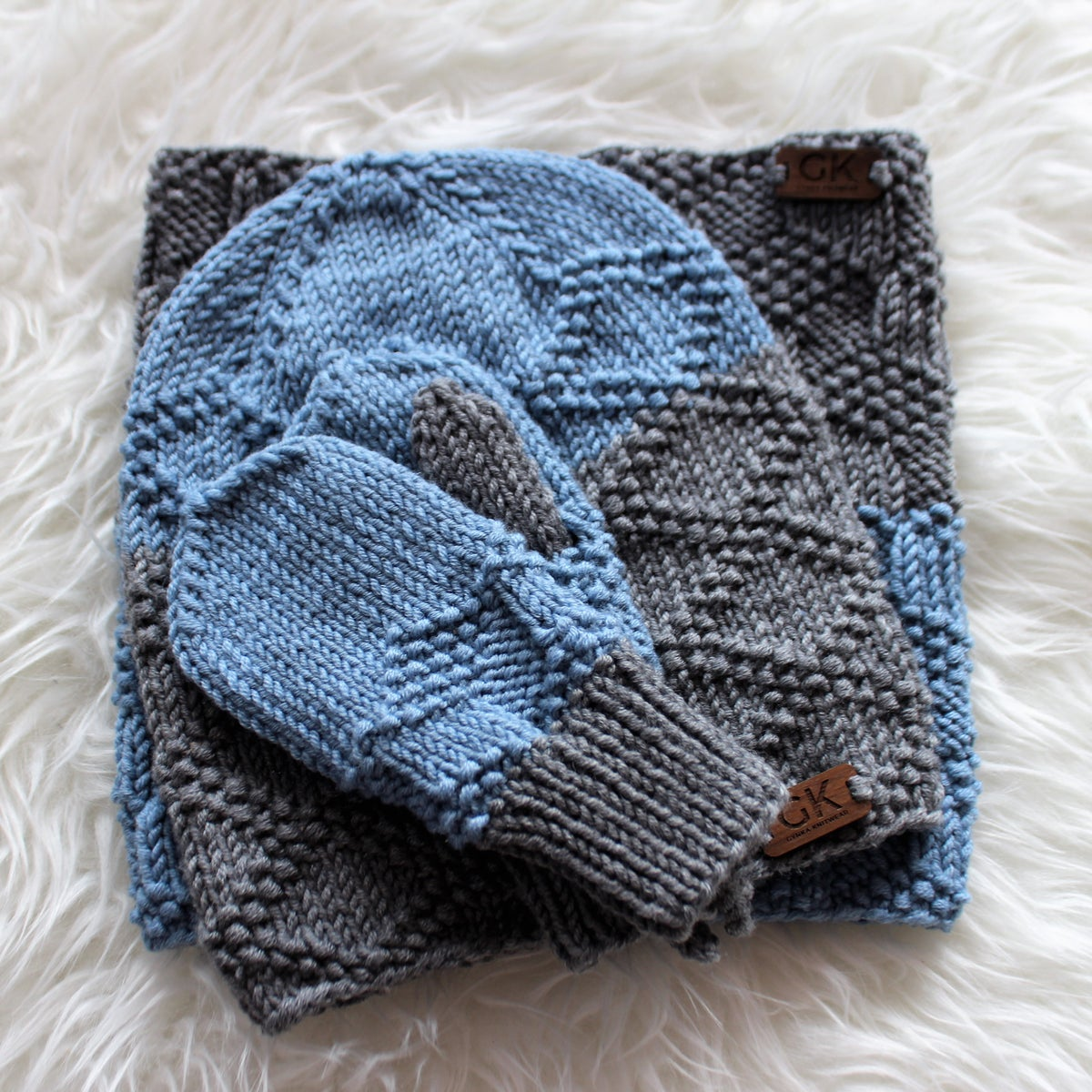 Image of Triton Set - Grey and forget-me-not - 1-3 years
