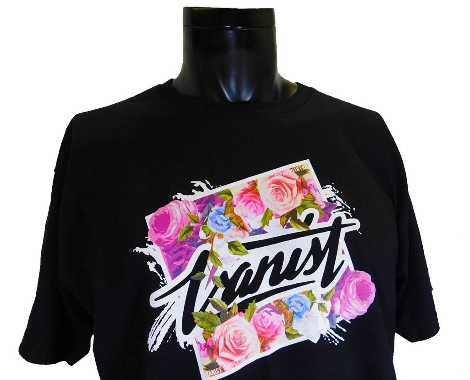 Image of Floral Black Tee
