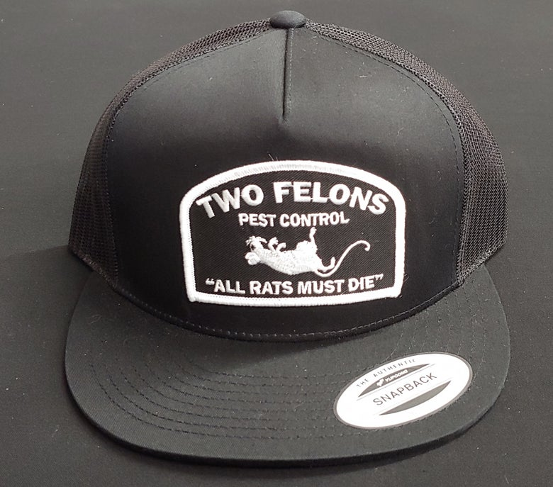 "Image of Two Felons ""Pest Control"" V1 (black)"