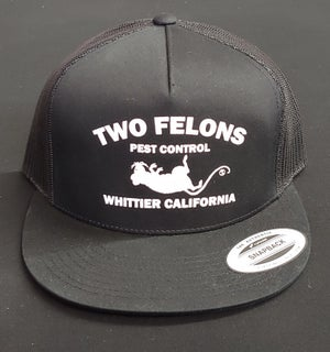 "Image of Two Felons ""Pest Control"" V2 Trucker (black)"