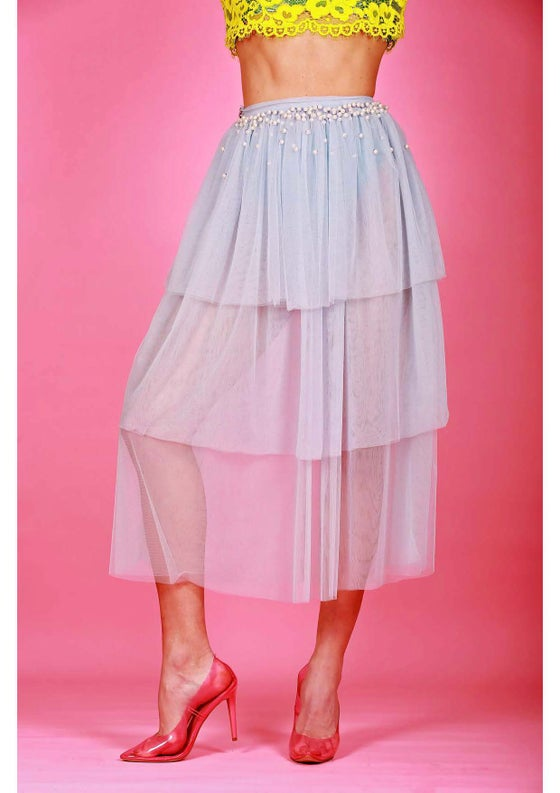 Image of CINDERELLA TRIPLE LAYER MAXI SKIRT