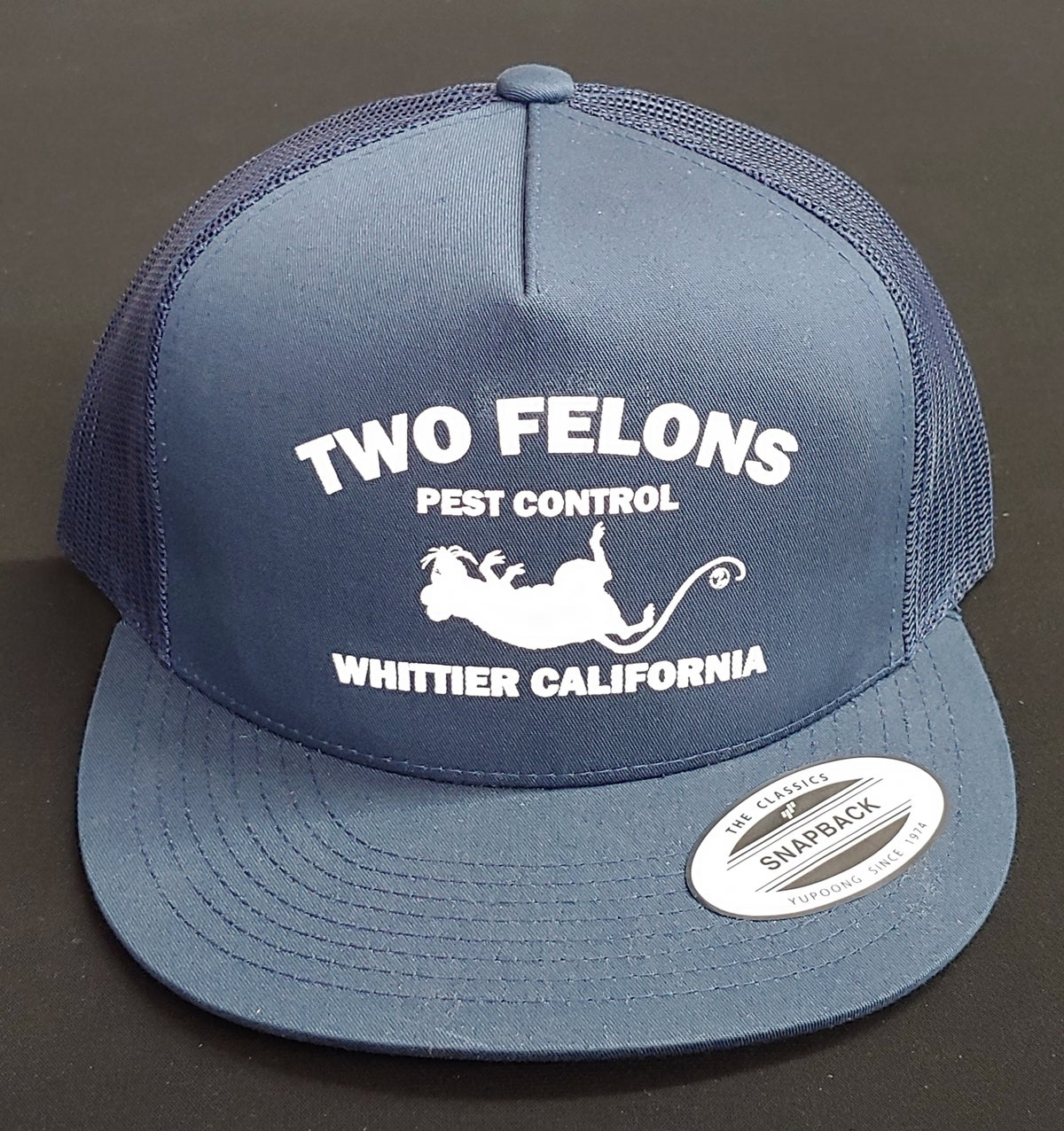"Two Felons ""Pest Control"" V2 Trucker (Navy)"