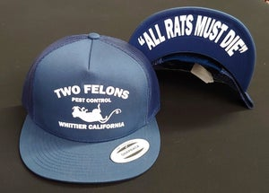 "Image of Two Felons ""Pest Control"" V2 Trucker (Navy)"