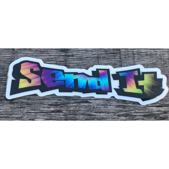 Image of Tye Die Send It Decal