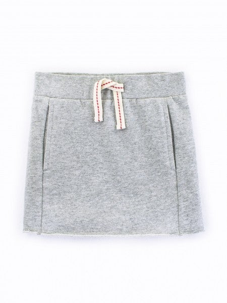 "Image of ""HEATHER GREY"" RAW EDGE SKIRT"