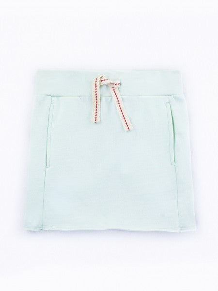 "Image of ""LIGHT TEAL"" RAW EDGE SKIRT"
