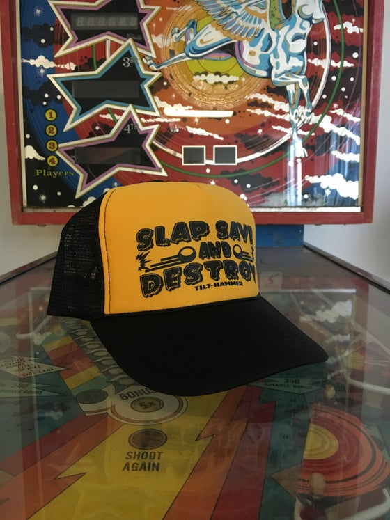 Image of Slap Save and Destroy Trucker Hat (Pittsburgh Edition)