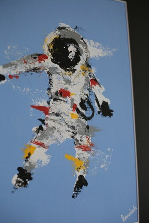 "Image of ""Spaceman #2"" Original Painting (Framed)"