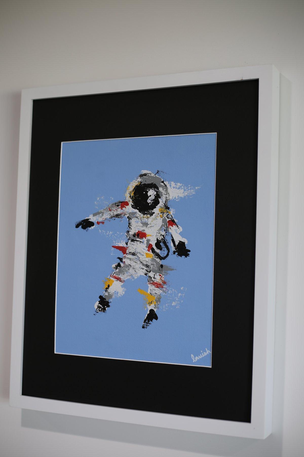 "Image of ""Spaceman #2"" Original Painting (Framed)"