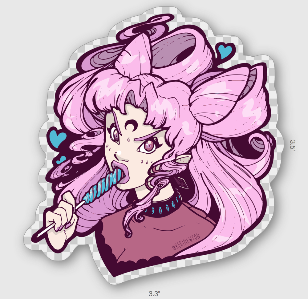 Image of Wicked Lady - transparent vinyl sticker
