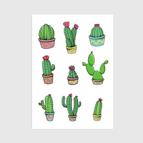 Image of A3 Cacti Minimal Print