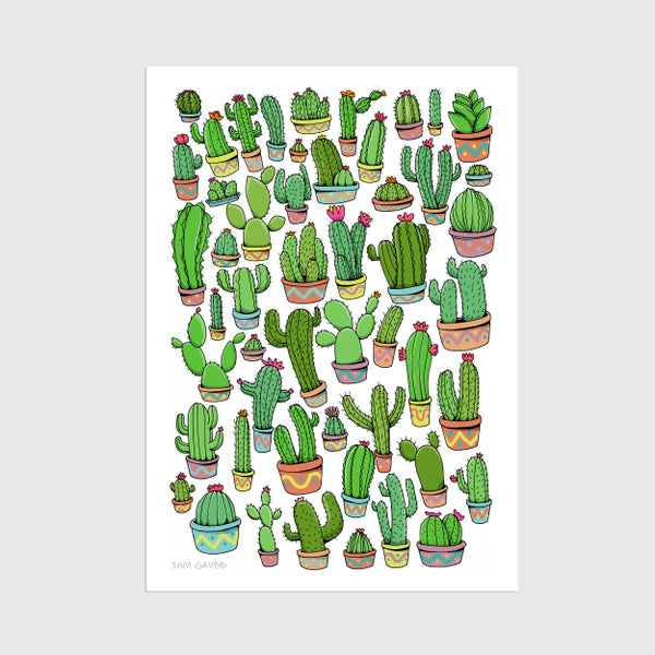 Image of A3 Cacti Print
