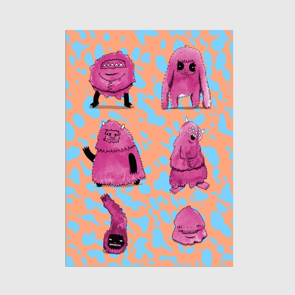 Image of A3 Monster Mates Print