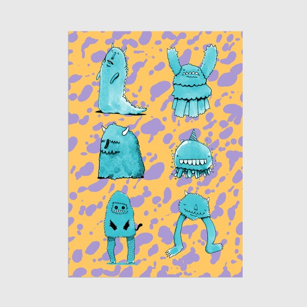 Image of A3 Monster Mates 2 Print