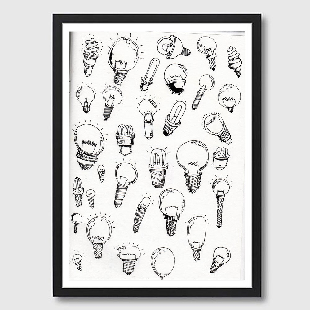 Image of Frame A3 Bulbs Print