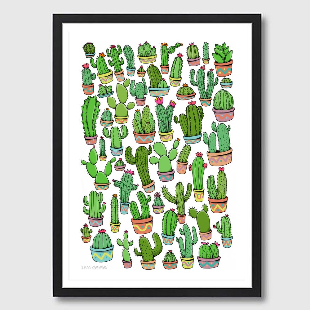 Image of Framed A3 Cacti Print