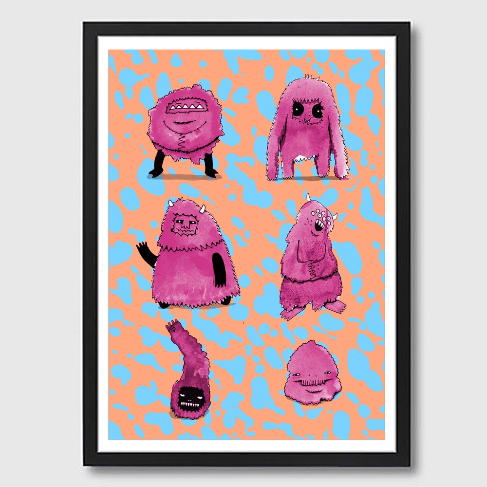 Image of Frame A3 Monster Mates 1 Print