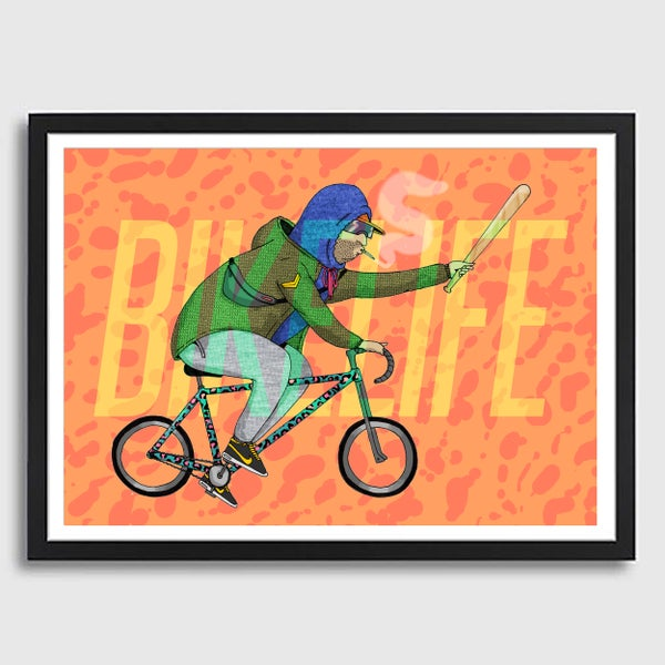 Image of Framed A3 Bikelife Print