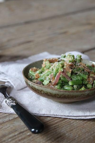 Image of salade de haricots verts et noix de coco