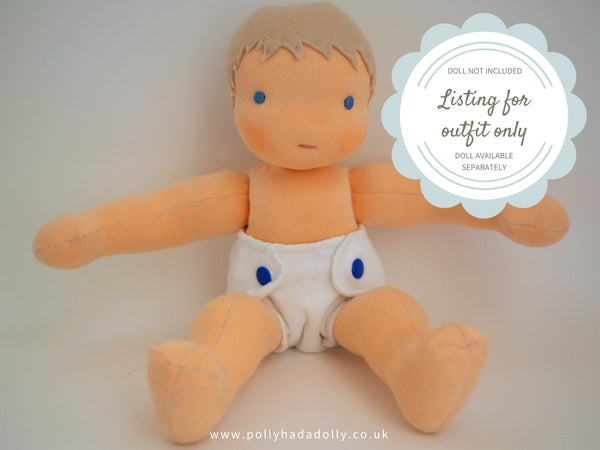 Image of Reusable nappies for my baby doll.