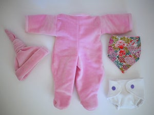 Image of Babygro, hat and bib for my baby doll