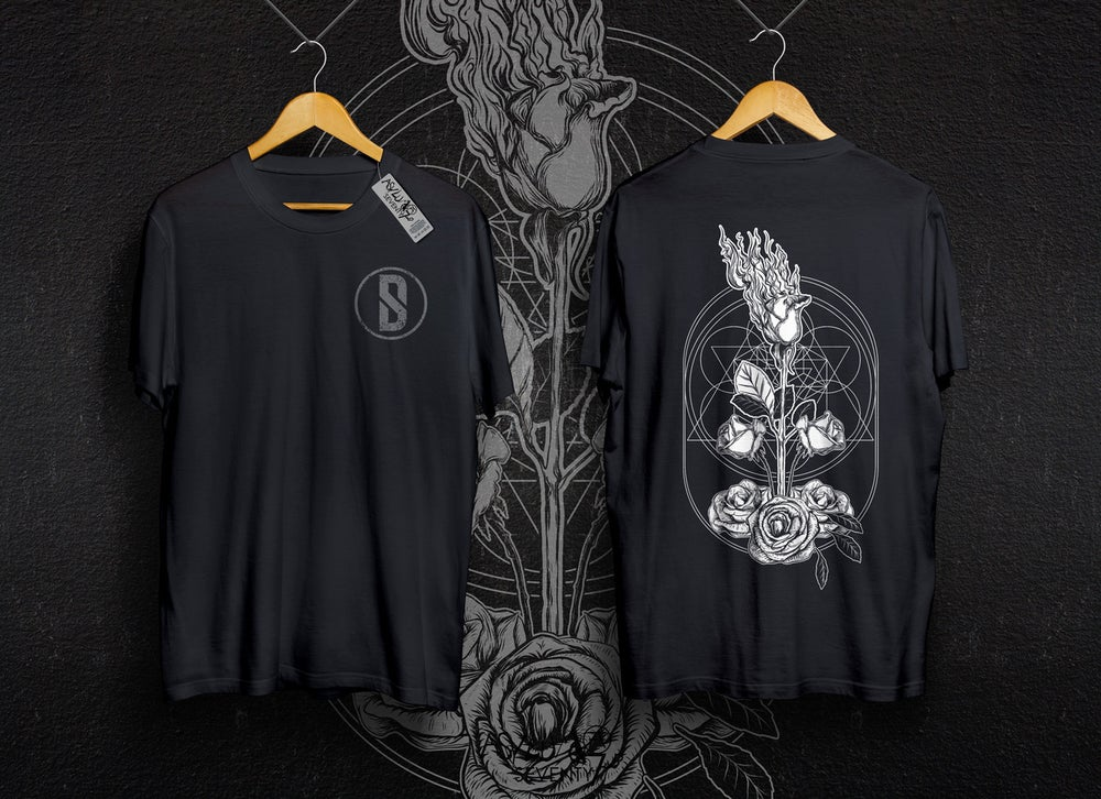 Image of Flaming White Rose Tee