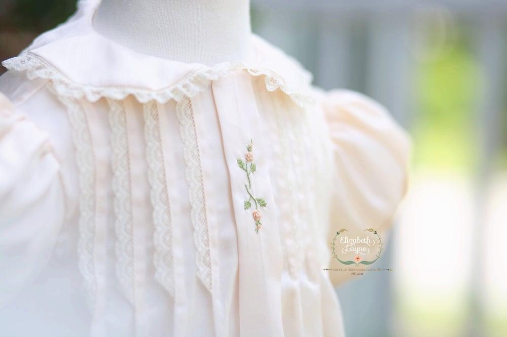 Image of The Emma Satin Batiste Tuck Dress