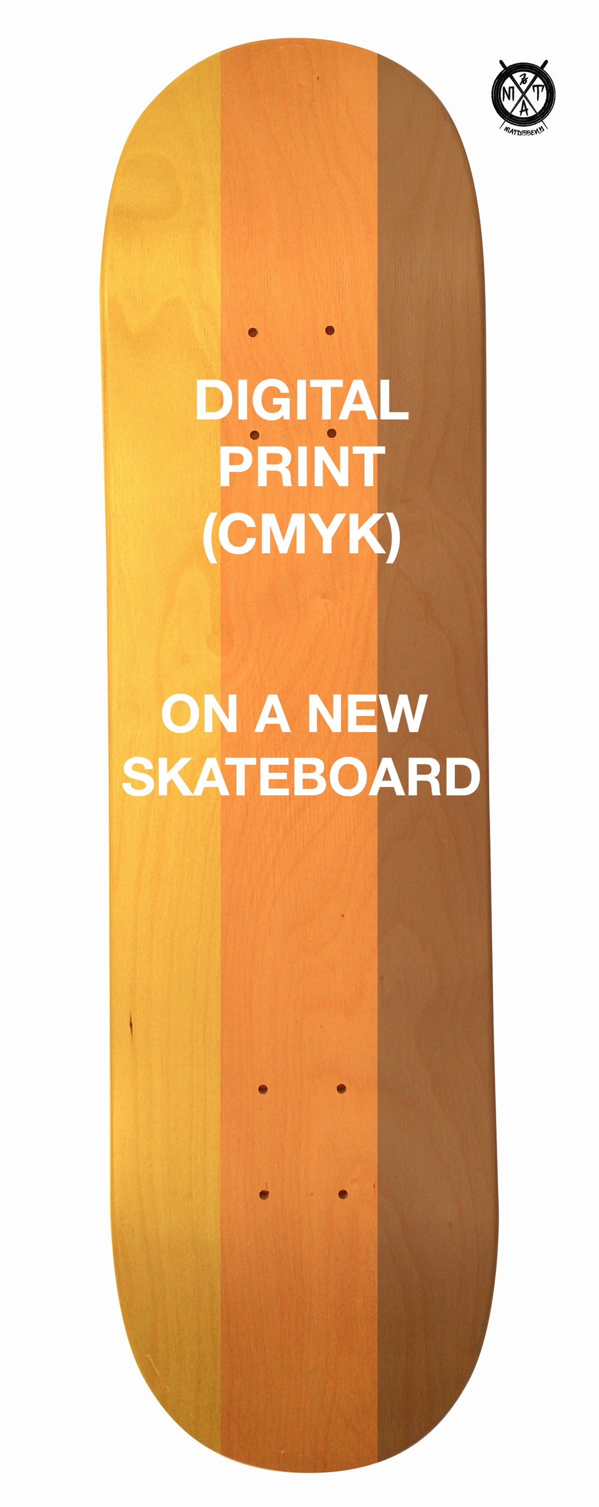 Image of Skateboard Digital Print (on a New Skateboard) by @matdisseny