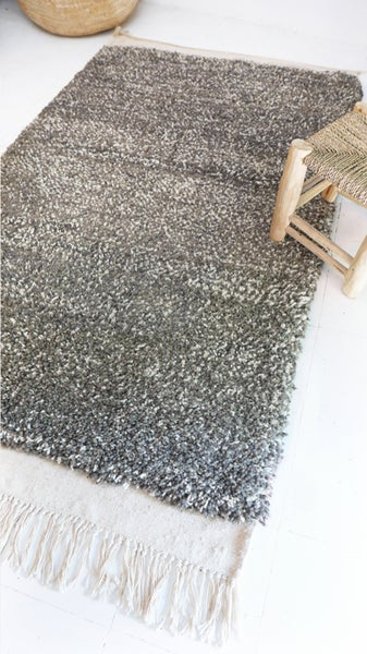 Image of Moroccan Wool Rug - Grey
