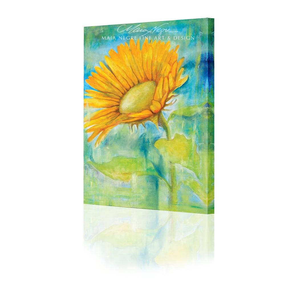 Image of Single Sunflower GIclee Print