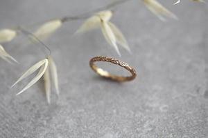 Image of 18ct rose gold 2mm laurel leaf