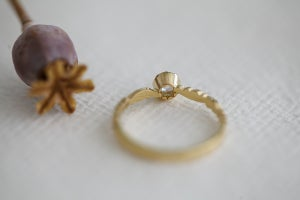 Image of *Made to order* 18ct gold 4.0mm rose-cut diamond ring