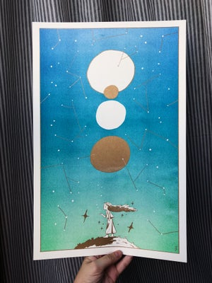 Constellations - Large Metallic Gold Print
