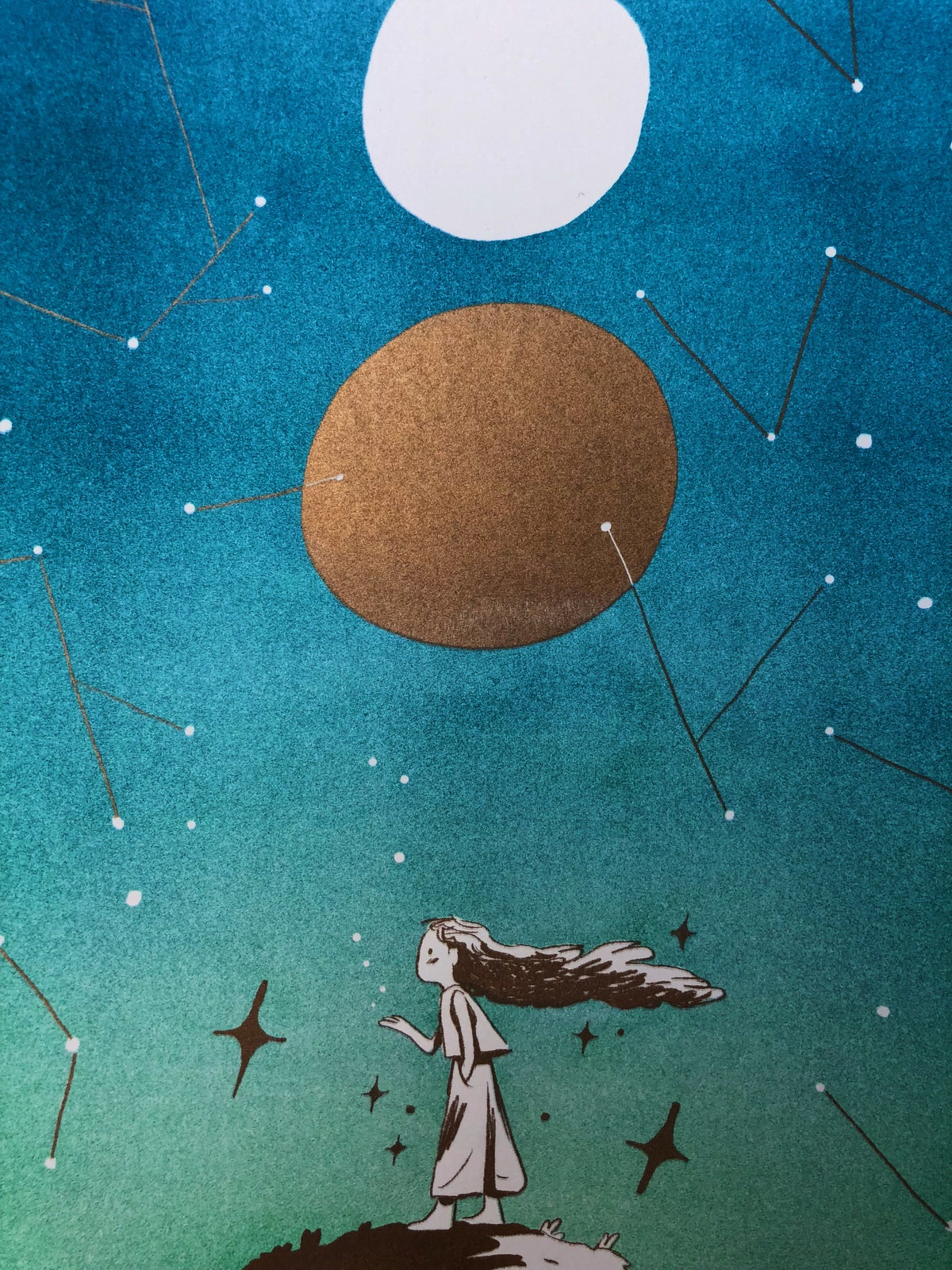 Image of Constellations - Large Metallic Gold Print