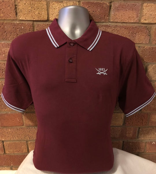 Image of Single colour oxblood polo