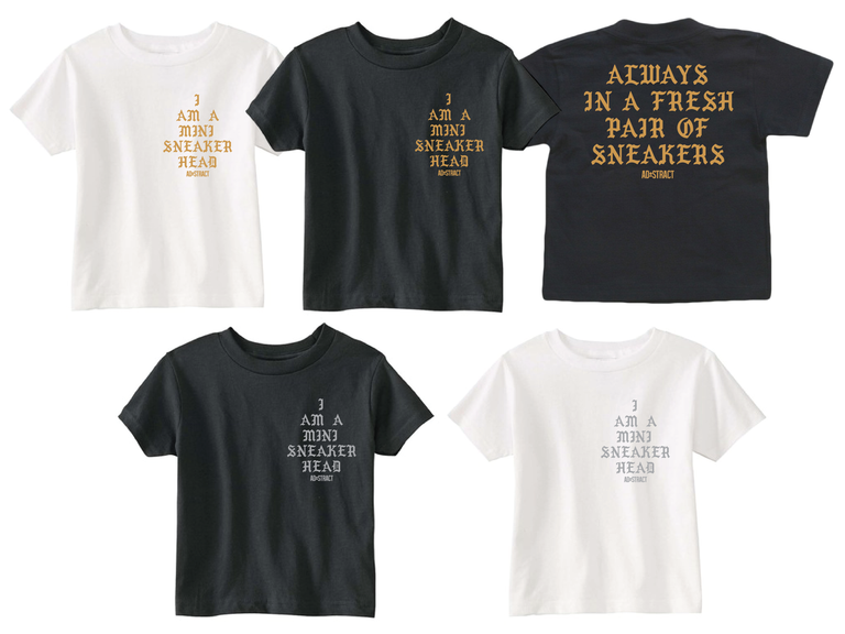 "Image of I AM A MINI SNEAKERHEAD ""SILVER/GOLD PRINT"" (INFANT ONESIES & TODDLER T-SHIRT)"