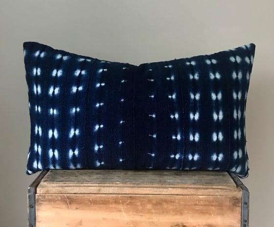 """Image of Indigo Dot Pillow 26""""x16"""""""
