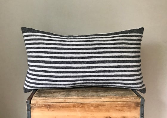 """Image of Striped Linen Pillow 26""""x16"""""""