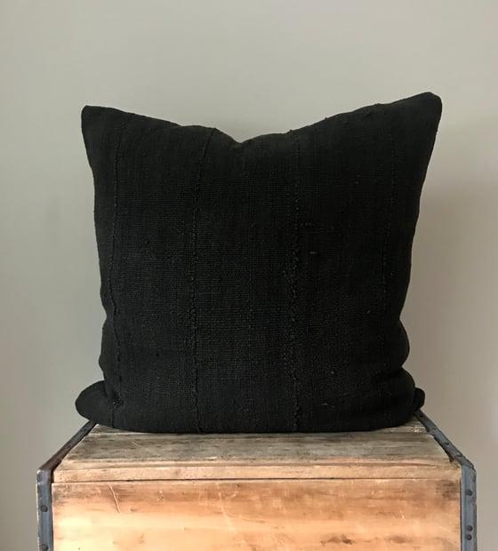 "Image of Black Mudcloth Pillow 22""x22"""