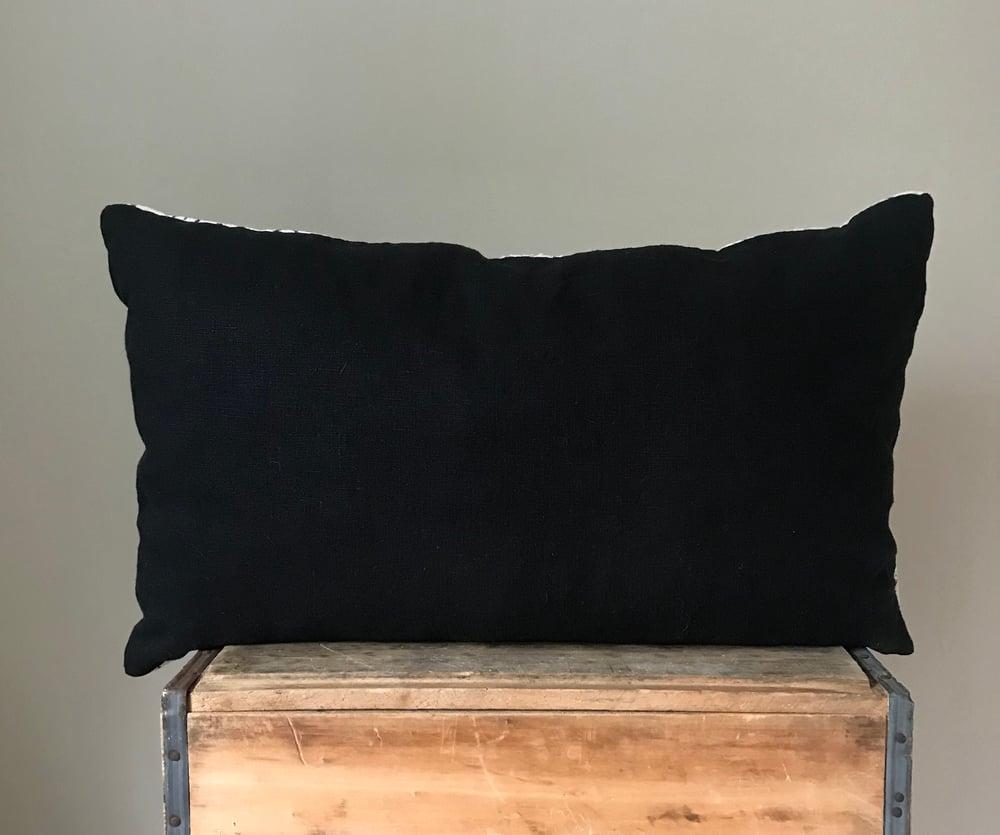 "Image of White Arrow Mudcloth Pillow 26""x16"""