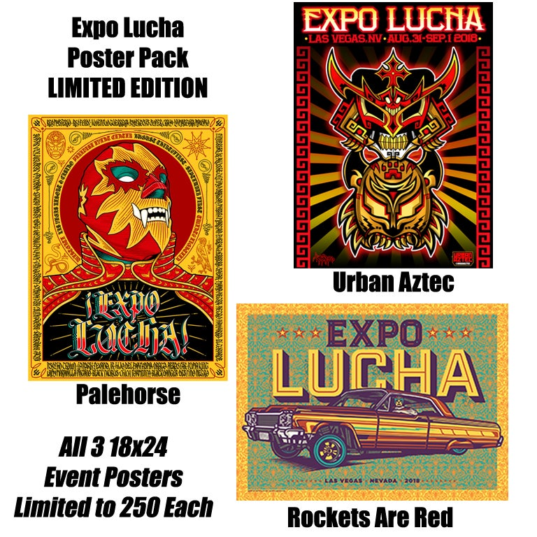 Image of Expo Lucha Poster Pack