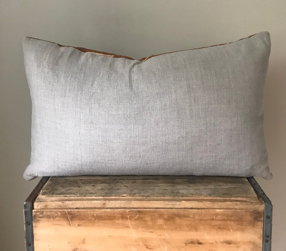 """Image of Rust Mudcloth Pillow 26""""x16"""""""