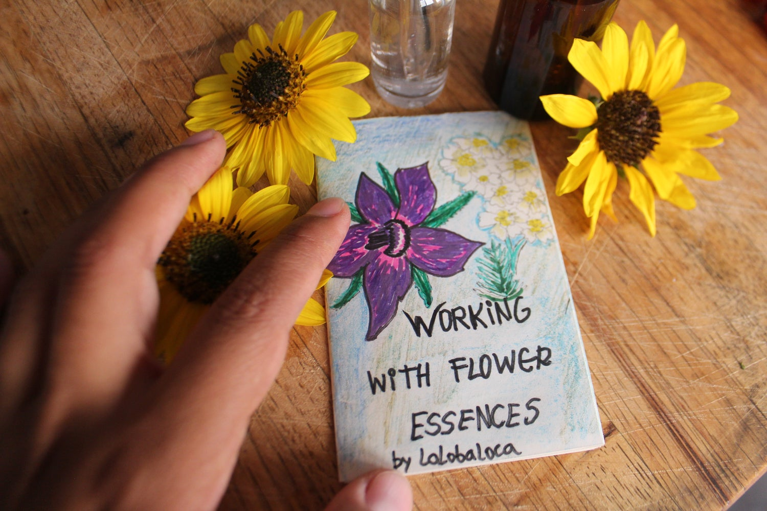Image of WORKING WITH FLOWER ESSENCES MINI ZINE