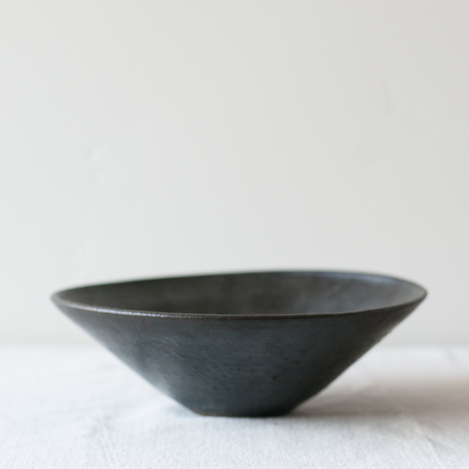 Image of Black Stoneware Bowl