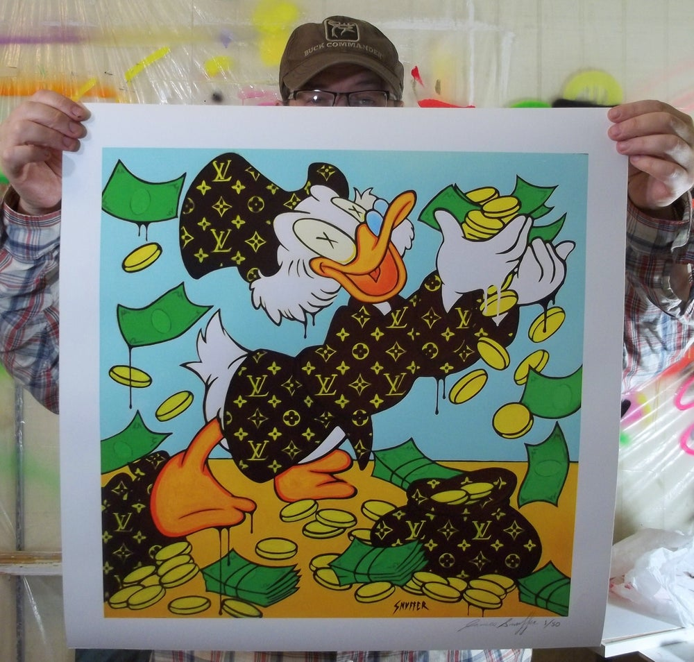 "Image of Original ""VUITTON MCDUCK"" LIMITED RUN PRINT"