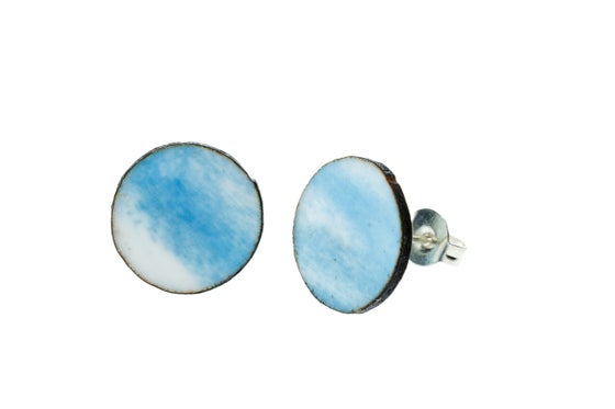 Image of Little rounds earrings - baby blue